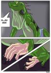 clothing comic feral iguana lizard male mammal muscles reptile rex_equinox scalie solo text torn_clothing transformation   Rating: Safe  Score: 0  User: TheDigiFurFan  Date: February 03, 2015