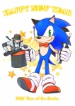 2013 anthro bandanna blue_body blue_fur bow_tie brown_hair fur hair hat hedgehog holidays konami male mammal metal_gear new_year posaune76 solid_snake sonic_(series) sonic_the_hedgehog top_hat video_games wand  Rating: Safe Score: 0 User: Test-Subject_217601 Date: February 19, 2013