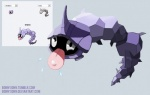 ambiguous_gender black_eyes bonnyjohn fakémon feral grey_background nintendo onix pearl plain_background pokemon_fusion pokémon purple_body saliva shellder simple_background tongue tongue_out video_games   Rating: Safe  Score: 7  User: slyroon  Date: September 06, 2013