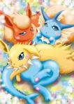 eeveelution female feral flareon group jolteon kemono nintendo pokémon unknown_artist vaporeon video_games   Rating: Safe  Score: 10  User: KemonoLover96  Date: March 30, 2015