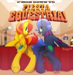 2015 anus balls bottle braeburned duo english_text equine female feral horse male mammal microphone my_little_pony pegasus penis pony pussy scarf smile table text wings   Rating: Explicit  Score: 12  User: Numeroth  Date: March 30, 2015