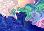 crying duo equine eyes_closed female feral friendship_is_magic horn mammal my_little_pony pastel-circus princess_celestia_(mlp) princess_luna_(mlp) tears winged_unicorn wings   Rating: Safe  Score: 12  User: Robinebra  Date: November 16, 2014