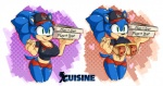 2015 anthro big_breasts breasts cleavage clothed clothing crossgender cuisine female flashing food hedgehog mammal pizza sonic_(series) sonic_the_hedgehog  Rating: Questionable Score: 3 User: Robinebra Date: July 03, 2015""