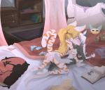 absurd_res all_fours anthro bed bed_sheet bedding bedroom black_fur blanket blonde_hair blush book breasts clothing cub dresser duo eyes_closed feline female female/female fur gothbunnyboy grope hair hi_res incest jynx_(krisprowler) ketzio11 kissing loli mammal nipples nude orange_fur panties pigtails pillow ponytail sara sex shirt teddy_bear underwear video_games white_fur white_hair young  Rating: Explicit Score: 55 User: AbominableToaster Date: October 23, 2015