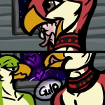 2016 anonyartist anthro askos avian avian_(starbound) beak bird brown_eyes collar cum cum_in_beak cum_in_mouth cum_inside cum_swallow cute digital_media_(artwork) duo feathers float floating green_feathers licking licking_lips maladash male male/male open_mouth penis red_feathers space space_background star starbound the_look tongue tongue_out video_games wall zero_gravity  Rating: Explicit Score: 2 User: FustratedFeathers Date: February 01, 2016