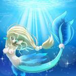 blue_eyes breasts female fish_tail hair marine mermaid nipples solo underwater water   Rating: Questionable  Score: 7  User: voldosbt  Date: September 05, 2014