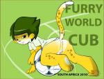 anthro anus backsack balls butt cheetah convenient_censorship cub digital_media_(artwork) feline fifa harumi humor looking_at_viewer male mammal mascot penis presenting presenting_hindquarters pun soccer_ball solo world_cup young zakumi  Rating: Explicit Score: 0 User: slyroon Date: October 10, 2015