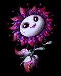 alien alpha_channel black_eyes call-me-fantasy digital_media_(artwork) female flora_fauna flower not_furry plant plants_vs_zombies simple_background solo transparent_background