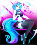2016 absurd_res anthro anthrofied blue_hair boots breasts cleavage clothed clothing cutie_mark equine eyewear female footwear friendship_is_magic glasses hair hi_res horn koveliana legwear looking_at_viewer mammal my_little_pony navel orange_eyes short_hair smile solo thigh_high_boots thigh_highs unicorn vinyl_scratch_(mlp) wide_hips  Rating: Safe Score: 26 User: Fur_in_the_dark Date: March 03, 2016