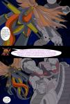 ambiguous_gender armor arthropod comic cybernetics cyborg dialogue digimon dragon english_text machine machinedramon mankor mimi reptile scalie simple_background sora tentomon text transformation wings