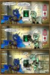 2015 armor blue_eyes blue_hair comic cutie_mark duo equine fallout female friendship_is_magic gray--day hair horn lyra_heartstrings_(mlp) mammal my_little_pony princess_luna_(mlp) star unicorn video_games winged_unicorn wings yellow_eyes  Rating: Safe Score: 8 User: 2DUK Date: June 22, 2015""