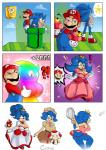 2014 <3 anthro big_breasts big_butt breasts butt cleavage clothed clothing crossgender crossover cuisine female gender_transformation group hedgehog human male mammal mario mario_bros mushroom nintendo panties sonic_(series) sonic_the_hedgehog toad_(mario) transformation underwear video_games  Rating: Questionable Score: 15 User: Robinebra Date: August 14, 2014