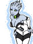 alien asari ben_10 ben_tennyson blue_skin cleavage clothed clothing female green_eyes mass_effect navel not_furry solo video_games  Rating: Safe Score: 5 User: Juni221 Date: August 07, 2015
