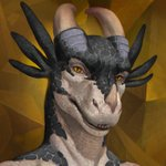 1:1 3_horns abstract_background anthro black_body black_scales commission_art detailed drackonthanri dragon headshot_portrait hi_res honovy honovyart horn looking_at_viewer male maleherm_(lore) multi_horn multicolored_body multicolored_scales open_mouth portrait reptile scales scalie sharp_teeth simple_background teeth two_tone_body two_tone_scales white_body white_scales yellow_eyes