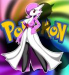 2014 alternate_color anthro barefoot breasts clothed clothing dress english_text eyelashes female fist frown gardevoir looking_at_viewer nintendo nipples pokémon solo standing text unknown_artist video_games   Rating: Questionable  Score: 3  User: forkU  Date: March 27, 2014