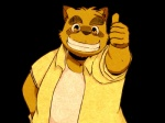 alpha_channel chubby clothing eyebrows eyewear flamingbravery glasses kounosuke male morenatsu plain_background shirt solo tank_top tanuki thumbs_up transparent_background   Rating: Safe  Score: 4  User: terminal11  Date: December 29, 2013
