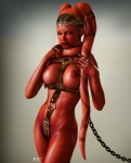 2012 3d bound breasts chain female humanoid jewelry ka'jena lilflames not_furry nude red_skin slave solo star_wars twi'lek  Rating: Questionable Score: 12 User: h4x0r Date: April 04, 2013
