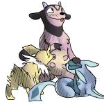 ahegao ambiguous_gender anus backsack balls black_nose blue_fur butt eeveelution eyes_rolled_back female feral fur glaceon hooves horn jolteon licking male miltank nintendo paintdog pink_fur pokémon sucking teats tongue tongue_out udders video_games yellow_fur  Rating: Explicit Score: 10 User: Pepperyena Date: March 18, 2016