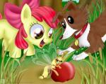 2014 amber_eyes antennae apple apple_bloom_(mlp) applejack_(mlp) arthropod blonde_hair bow breezie canine collar cutie_mark dog earth_pony equine female feral friendship_is_magic fruit grass green_eyes group hair horse insect larger_female mammal micro my_little_pony outside pony red_hair reed sibling sisters size_difference smaller_female swanlullaby tree winona_(mlp) young  Rating: Safe Score: 6 User: 2DUK Date: March 24, 2014