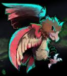 abstract_background ambiguous_gender avian beak bird feathered_wings feathers feral flying nintendo pokémon pokémon_(species) simple_background solo spearow talons the-chu video_games wingsRating: SafeScore: 4User: UNBERIEVABRE!Date: July 09, 2014