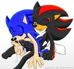anthro balls clothing cum cum_in_mouth cum_inside cum_on_hand duo fakerface legwear male male/male one_eye_closed oral penis red_eyes shadow_the_hedgehog socks sonic_(series) sonic_the_hedgehog vein veiny_penis  Rating: Explicit Score: 1 User: Untamed Date: August 30, 2015