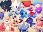 ambiguous_gender blue_body blue_fur chimecho chinchou cleffa corsola digital_media_(artwork) ditto eyes_closed fur group hoppip legendary_pokémon looking_at_viewer misdreavus nintendo one_eye_closed open_mouth open_smile phione pichu pink_body pokémon pokémon_(species) porygon2 purple_body red_eyes shinx shiny_pokémon shuckle shuppet simple_background smile soft_shading surskit togetic tongue tongue_out video_games white_body wink yellow_fur yellow_sclera zaikudo