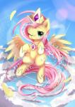 aymint blush cloud crown cutie_mark equine feathers fluttershy_(mlp) friendship_is_magic fur hair hooves horn looking_at_viewer mammal my_little_pony necklace one_eye_closed pegasus pink_hair solo sparkles wings yellow_fur   Rating: Safe  Score: 12  User: OptimalPrime  Date: April 17, 2014