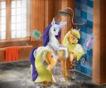 2015 anus applejack_(mlp) duo earth_pony equine female friendship_is_magic horn horse looking_at_viewer magic mammal my_little_pony pony pussy rarity_(mlp) shower soap szafir87 unicorn water  Rating: Explicit Score: 14 User: Szafir87 Date: November 17, 2015