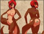 2015 anthro big_breasts breasts butt female hair leokingdom looking_at_viewer mammal mustelid nipples nude otter pussy red_hair smile solo tattoo  Rating: Explicit Score: 36 User: Numeroth Date: July 31, 2015