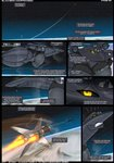 2020 aircraft aircraft_humanoid airplane anthro big_breasts black_body black_border black_sclera bodily_fluids border breasts clothed clothing comic conditional_dnp dialogue english_text female flying hi_res huge_breasts jet leotard living_aircraft living_machine living_vehicle machine male missile outside renthedragon shandra_(renthedragon) solo sr-71_blackbird star sweat sweatdrop text vehicle wings yellow_eyes