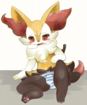 braixen bulge clothing cute itameshi male nintendo open_mouth paws pokémon solo sweat underwear video_games  Rating: Questionable Score: 13 User: avoiddancee Date: January 02, 2016