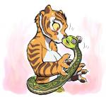 anthro feline female female/female interspecies kissing kung_fu_panda mammal master_tigress master_viper nude reptile scalie snake tiger zenmigawa   Rating: Safe  Score: 39  User: ippiki_ookami  Date: January 29, 2014