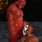 2012 3d abs balls biceps black_howler cgi cum demon duo ear_piercing facial_hair facial_piercing horn humanoid male male/male muscles nipple_piercing nipples nude oral pecs penis piercing sex standing tattoo   Rating: Explicit  Score: 3  User: lizardlover  Date: June 27, 2014