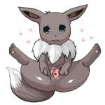 2011 <3 alternate_color anus blue_eyes canine cute eevee female feral fur grey_fur mammal nintendo pawpads paws plain_background pokémon presenting presenting_pussy pussy shiny_pokémon solo spread_legs spread_pussy spreading tears urethra video_games white_background 昔の傷口   Rating: Explicit  Score: 9  User: Hydr0  Date: December 26, 2014