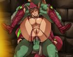 acht anal anal_penetration areola balls blonde_hair breasts clothing duo elf erection female glowing glowing_eyes hair humanoid long_ears male male/female nipples not_furry nude orc penetration penis pussy restrained sex torn_clothing  Rating: Explicit Score: 9 User: Peekaboo Date: April 12, 2016