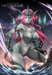 breasts claws fin fish garayann hair hi_res isonade kaiju long_hair marine monster monster_girl mythology navel nude open_mouth red_hair sea shark water  Rating: Questionable Score: 9 User: ZeroXDash Date: January 28, 2016