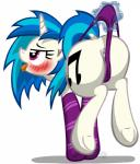 2015 anus blue_hair blush butt clothing cutie_mark dock equine female feral friendship_is_magic hair horn mammal multicolored_hair my_little_pony open_mouth panties pussy pussy_floss simple_background solo template93 tongue tongue_out two_tone_hair underhoof underwear unicorn vinyl_scratch_(mlp) white_background  Rating: Explicit Score: 23 User: Egekilde Date: September 26, 2015