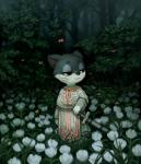 animal_crossing arthropod butterfly calm cat clothing crookedtrees darkness feline flower forest insect mammal melee_weapon nintendo plant punchy_(animal_crossing) robe smile solo sword tree video_games weapon whiskers  Rating: Safe Score: 9 User: Eedez Date: June 30, 2015""