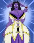 2015 alcohol anthro beverage big_breasts black_hair bra breast_expansion breasts chubby clothing draenei dress expansion female glass hair holding_glass huge_breasts panties sammy-upvotes solo underwear video_games warcraft wine wine_glass   Rating: Questionable  Score: 9  User: 2DUK  Date: March 18, 2015