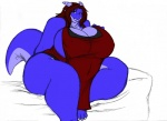 anthro big_breasts big_thighs blue_eyes breasts chubby claws dragon female horn nightgown obese overweight ryuakira smile solo thick_thighs voluptuous   Rating: Questionable  Score: 2  User: Unbentsuperpyro  Date: December 21, 2011