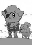 animal_crossing canine cigarette dog duo eye_patch eyewear female human isabelle_(animal_crossing) mammal metal_gear monochrome nintendo venom_snake video_games villager  Rating: Safe Score: 4 User: Nuji Date: September 06, 2015