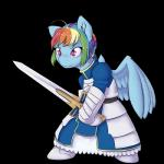 2015 alasou alpha_channel biped blue_fur clothing cosplay dress equine fate/stay_night female feral friendship_is_magic fur hair mammal melee_weapon multicolored_hair my_little_pony pegasus pink_eyes rainbow_dash_(mlp) rainbow_hair saber_(fate/stay_night) simple_background smile solo sword transparent_background weapon wings  Rating: Safe Score: 4 User: ultragamer89 Date: November 24, 2015