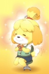 2015 animal_crossing anthro black_eyes black_nose blonde_hair blush canine chewing clothed clothing dog doughnut dress eating female food fur hair hair_ornament half-closed_eyes happy isabelle_(animal_crossing) kemono mammal multicolored_fur nintendo onda_seki sitting smile solo two_tone_fur video_games white_fur yellow_fur  Rating: Safe Score: 3 User: KemonoLover96 Date: June 02, 2015""