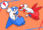 ! blush duo female feral latias latios legendary_pokémon male nettsuu nintendo pokémon simple_background video_games yellow_eyesRating: SafeScore: 6User: JasperinityDate: March 26, 2017