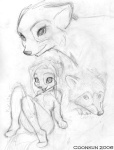 2006 anthro breasts canine coonkun cub feline female feral greyscale group leaning leaning_back male mammal monochrome nude raccoon reclining simple_background sketch small_breasts smile solo_focus vivian white_background young  Rating: Safe Score: 7 User: mellis Date: March 02, 2007