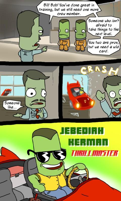 e621 alien bill_kerman bob_kerman car comic crash eyewear glass inside_car jebediah_kerman kerbal kerbal_space_program male sunglasses unknown_artist vehicle