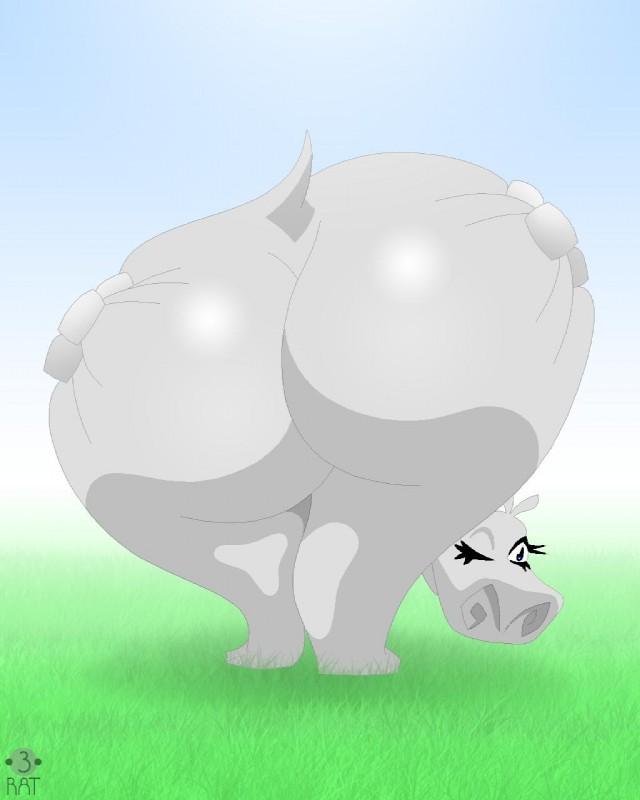 e621 armoredcoreraven big_butt butt dreamworks female gloria_(madagascar) hi_res hippopotamus huge_butt madagascar mammal presenting presenting_hindquarters rat_(artist) solo