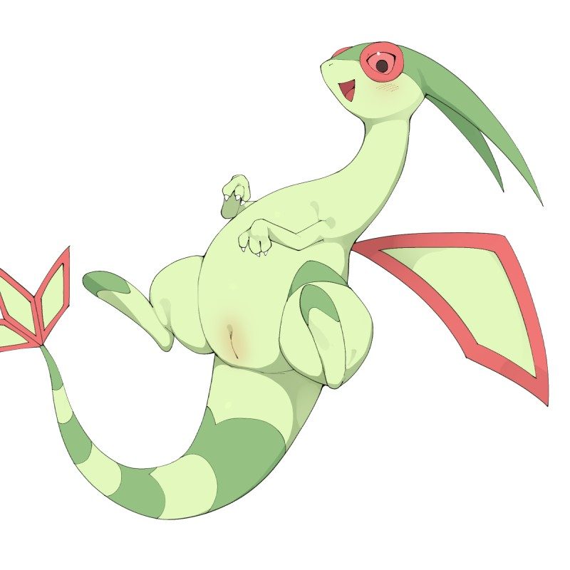 e621 1:1 dragon female feral flygon hi_res nintendo pokémon pokémon_(species) pussy scalie simple_background solo video_games white_background youjomodoki
