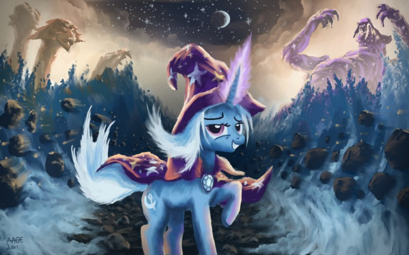 Trixie Mlp Unicorn Ursa Major Wallpaper White Hair Widescreen