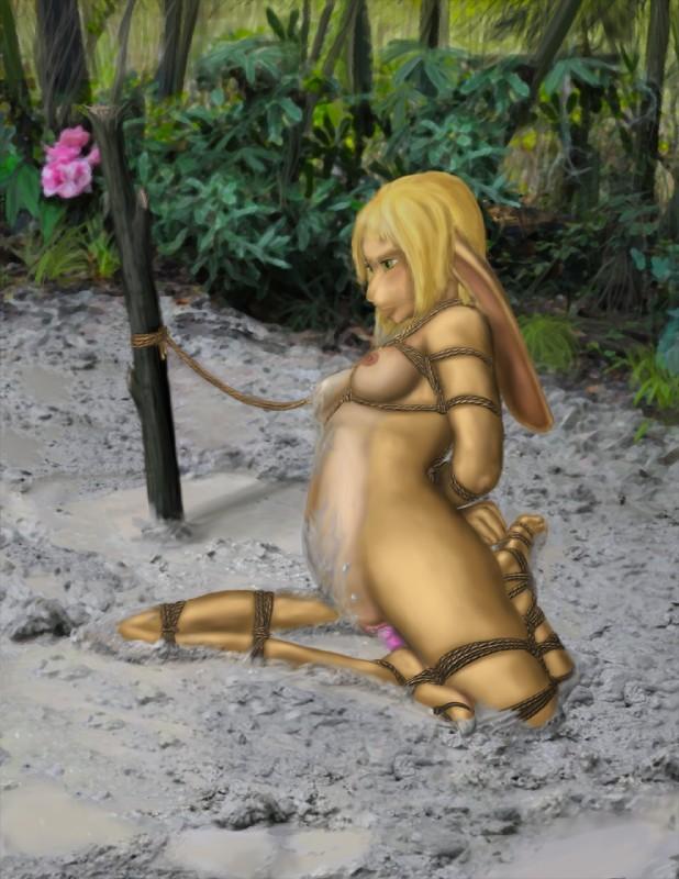 deep Women mud bondage in